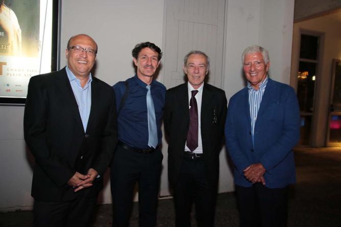 Frédéric Alory, directeur régional d'Air France, un invité, Patrick Guillaumin, Directeur Général Adjoint aux Affaires Europénnes à la Région Réunion et Jean-Pierre Haggai