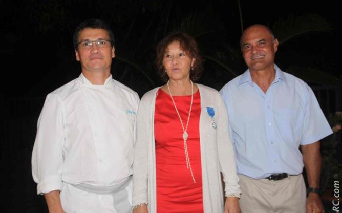 Johny Damour, cuisinier, Ginette Azélie et  James Tantale, chauffeur