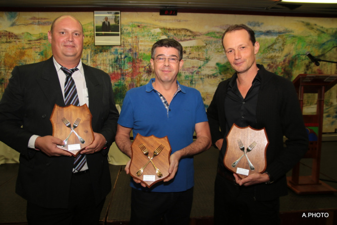 Gilles Técher, Fourchettes d'Argent, Benoît Vantaux, Fourchettes d'Or, et Samuel Tétard, Fourchettes de Bronze