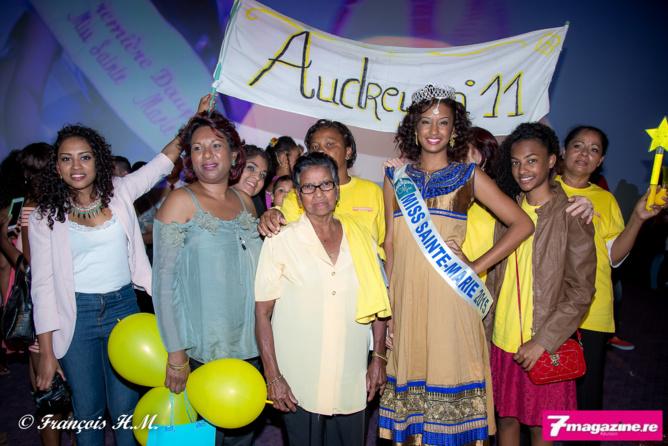 Audrey et ses supporters!