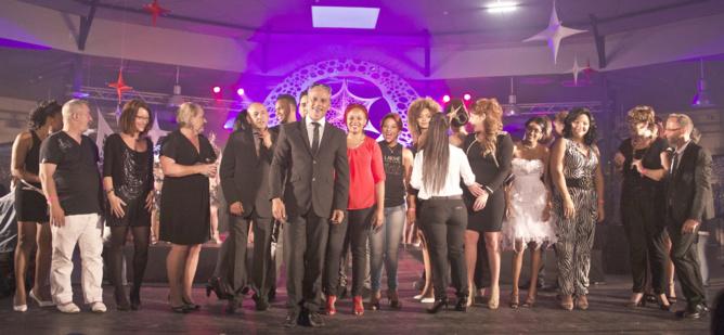 Félix Manent avec les professionnels qui ont travailé sur ce show