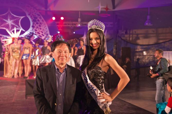 André Thien Ah Koon, maire du Tampon, et Azuima Issa