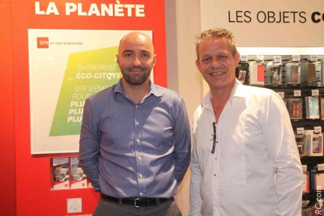 Eric Gourlaouen, directeur des ventes SRR, et Olivier Duran, distributeur