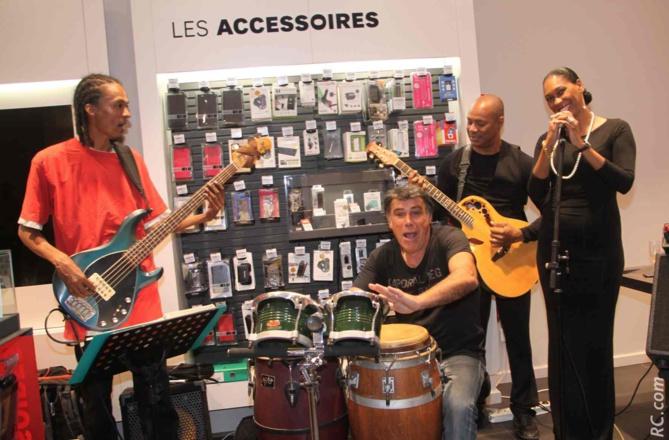 Aïdy Pfuetzenreuter , Jimmy, Jean-Charles et Jémo, les artistes qui ont animé la soirée