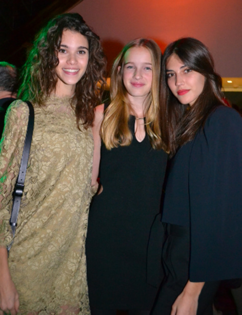 Pauline Hoareau, Léia et Marilhéa, qui avait remporté le concours Elite Model Look France il y a deux ans