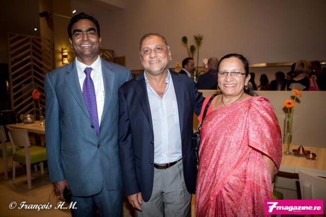 George Raju et son épouse avec Osman Badat