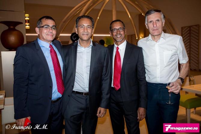 Patrick Serveaux, Amir Mérali Balou, Joël Narayanin, et un invité