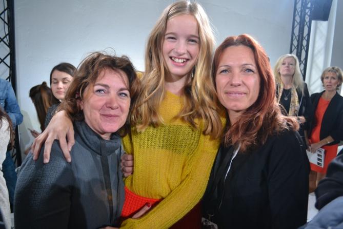 Christine Adam, la mère de Leia, Leia et sa marraine Marlène