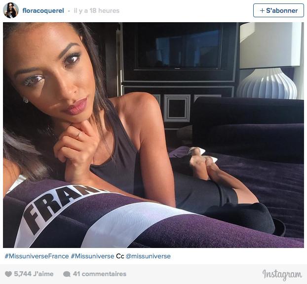 Flora Coquerel prête pour Miss Univers