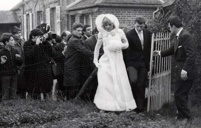 Mariage de Johnny et Sylvie Vartan en avril 1965