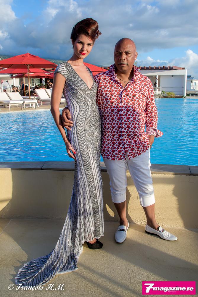 Marie Payet, Miss Réunion 2011 et 2ème dauphine de Miss France 2012, et Aristide alias Laurent Bernard