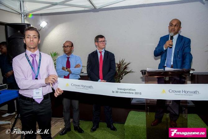 Maxime Payet, collaborateur du cabinet, Philippe Naillet député, associé du cabinet, Christophe Rocard et Abdoullah Lala