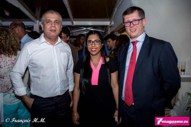 Michel Dijoux, dirigeant du groupe Dijoux, Amina Lala et Christophe Rocard