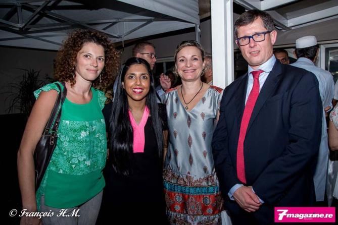 Nathalie Durand, reponsable pédagogique du Master CCA, Amina Lala, Chrystelle Dubrul de l'IAE et Christophe Rocard