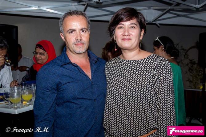 Jean-Denis Vidot de FBR et Sandra Cathang, architecte d'intérieur