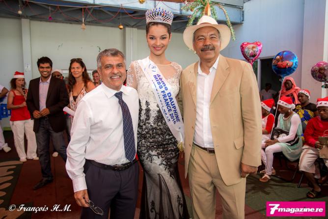 Noël des enfants malades au CHU<br>Miss Réunion et le Père Noël au rendez-vous