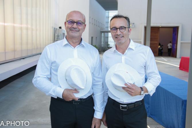 Alain Albany directeur services et qualité, et Eric Benavente directeur Général CMM