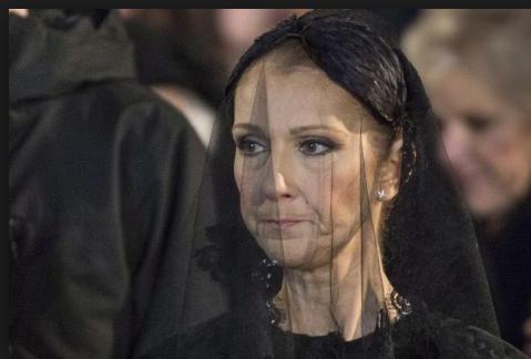 Céline Dion à l'enterrrement de son mari René Angélil
