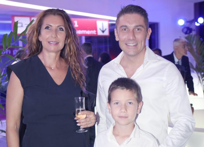 Ariane Loupy, Sébastien Autrais directeur d'Ekwalis Saint-Denis et leur fils