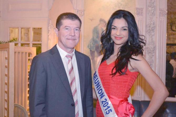Marcelino Burel, président du Conseil Régional des Experts Comptables, et Azuima Issa