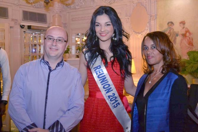 Rémy Amato, vice-président de l'Ordre des Experts Comptables de La Réunion, Miss Réunion 2015 et Madame Amato