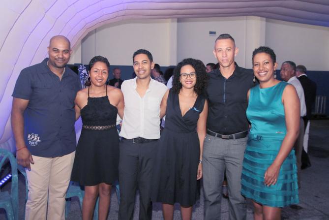 Idriss Népal, Cariste à Cap Bourbon, et son épouse, Graziella Jan, responsable Vente/Qualité de Cap Bourbon, et son époux, Leila Assani, secrétaire de Cap Bourbon, et son époux