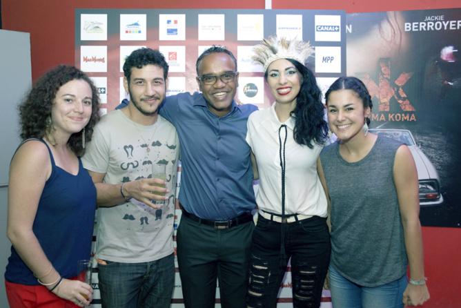 Avec l'équipe de Réunion 1ère