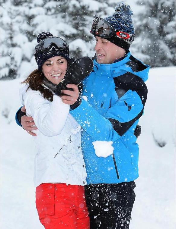 Le Prince William au ski: il énerve!