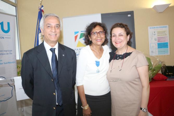 Tayeba Moullan avec Ismaël et Sihem Locate