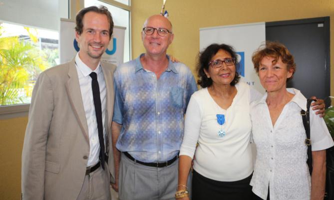 David Gruson et Tayeba Moullan avec Pierre Yves et Colette Versini