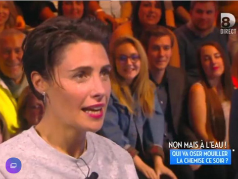 Alessandra Sublet trempée face à Hanouna
