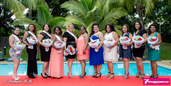 Avec Annie Cerveaux, présidente du Comité Miss Ronde Réunion