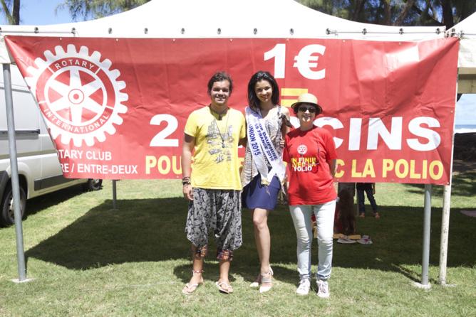 Marche contre la polio du Rotary-Club à Saint-Pierre<br>Miss Réunion soutient la cause