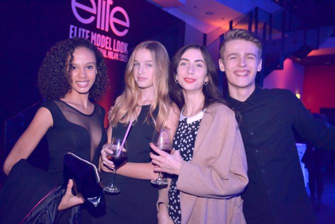 Léia et des mannequins Elite Model Look