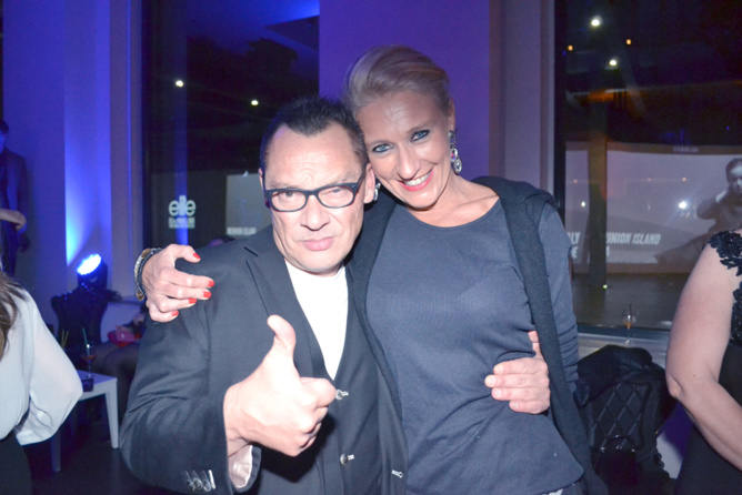 Stéphane Pescimoro d'Elite Paris et Catherine Ronin, co-organisatrice Elite Model Look Reunion Island