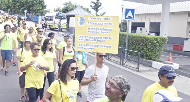 Lutte contre l'endométriose<br>Une marche à Trois Bassins