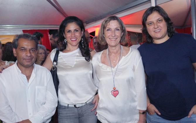 Idriss Omarjee, Gilda Payet, Catherine Gaud et Catherine Payet