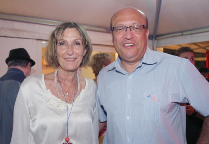 Catherine Gaud et Frédéric Alory, directeur régional d'Air France