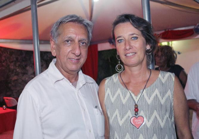 Aziz Patel et Marie-Laure Veyrat, responsable de projets et coordinatrice prévention de RIVE