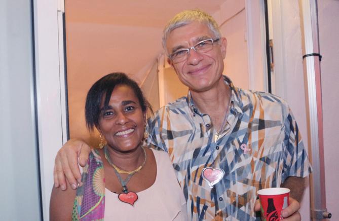 Charifa Houssein, infirmière coordinatrice, et Christian Robert, vice-président