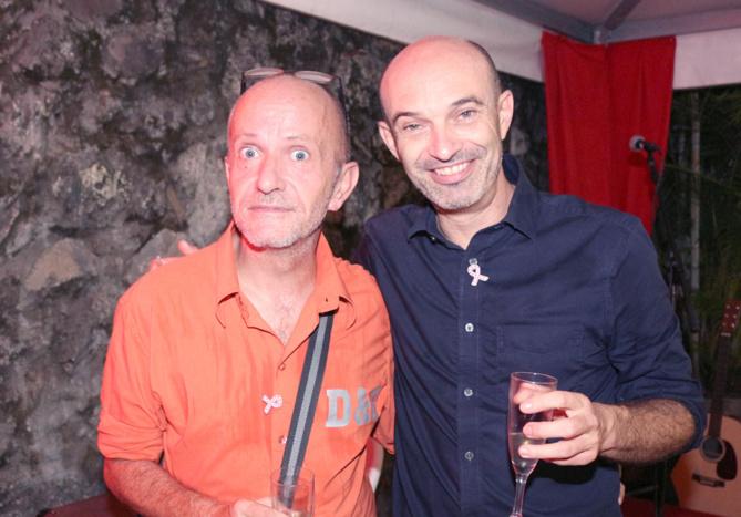Stéphane Ducamp, et Dominique Oudin de Yébo, membre du CA de RIVE
