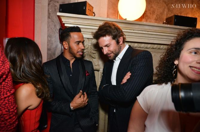 Lewis Hamilton et Bradley Cooper