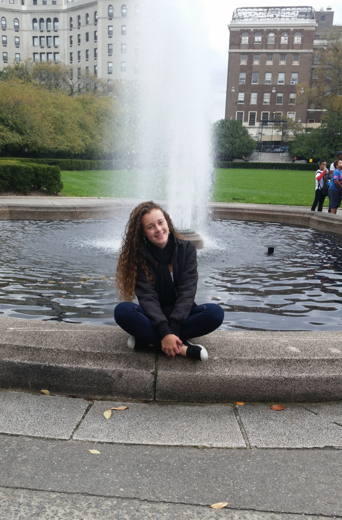 Photo-souvenir: elle a passé deux semaines à New York et rêve d'y retourner...