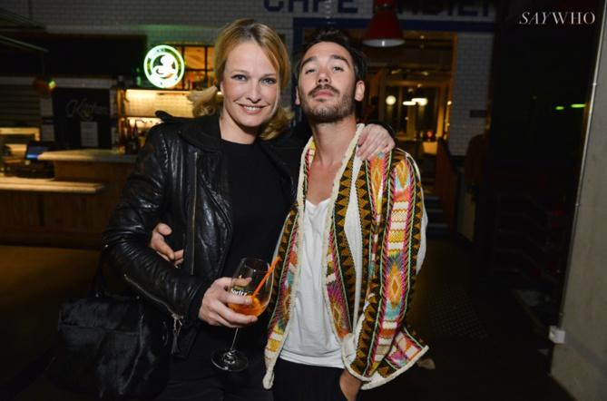 Karen Mulder et Benjamin Belin