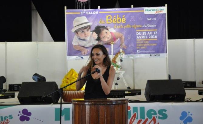 Valérie Bègue inaugure le salon du bébé et de la petite enfance