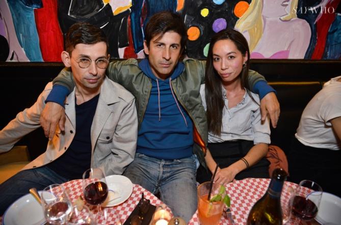 Gildas Loaec, André Saraiva et Romy Loaec