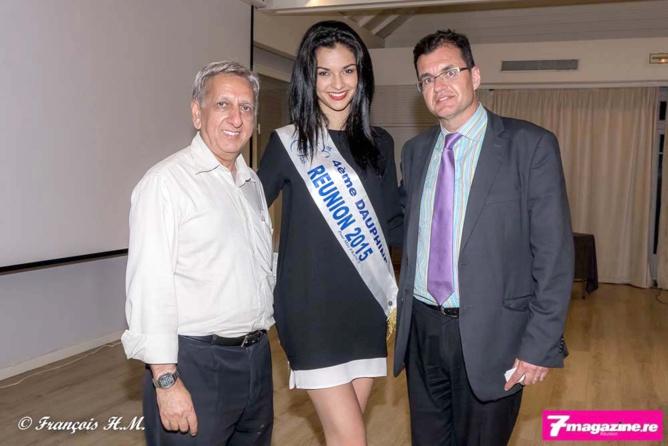 Aziz Patel du Comité Miss Réunion, Azuima Issa et Atanase Périfan