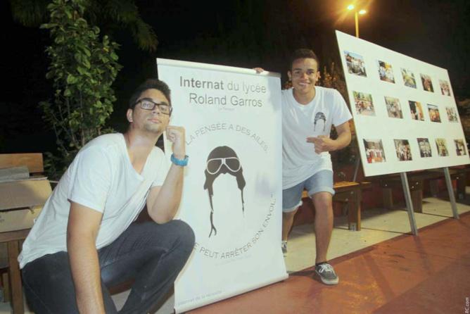 Les élèves internes du Lycée Roland Garros: Loic Pothin et Alexandre Gastrin