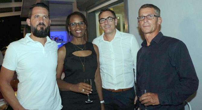 Emmanuel Chiappini, directeur de la Relation client chez Orange, Louisiane, Alban Alligier et Franck Fayolle, directeurs clients OBS