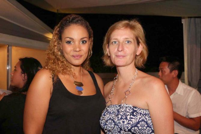 Anne Laure Le Carff et Isabelle Accart, directrice du service clients Orange